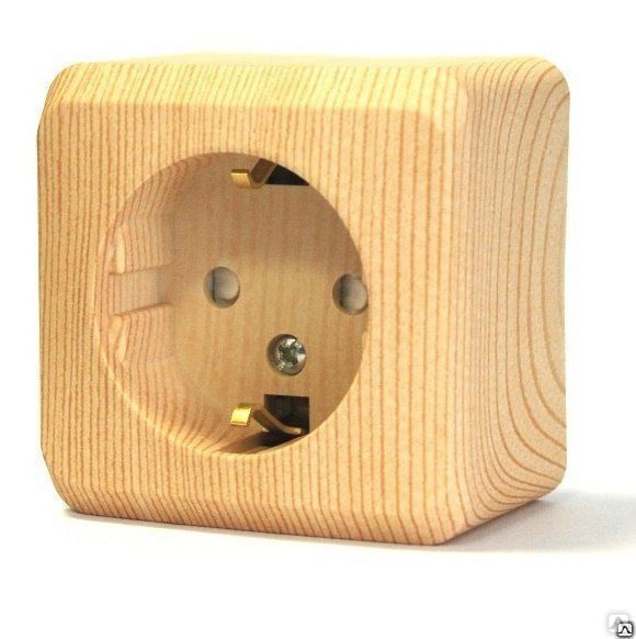 ЭТЮД Розетка наружная с з со шторками сосна Schneider Electric, цена ... a6a67a79004