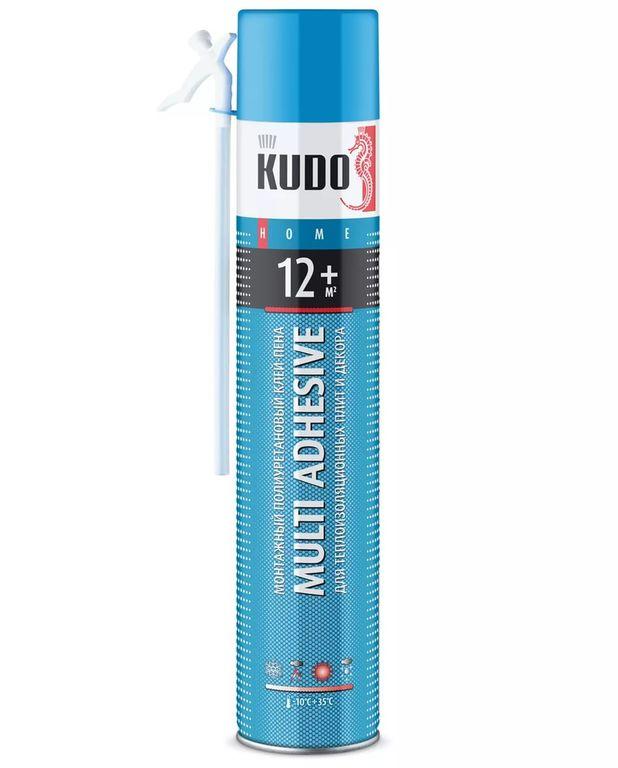 Специальный клей Клей-пена полиуретановый бытовой всесезонный HOME 12+, 870гр KUDO Крепика дом крепежных материалов
