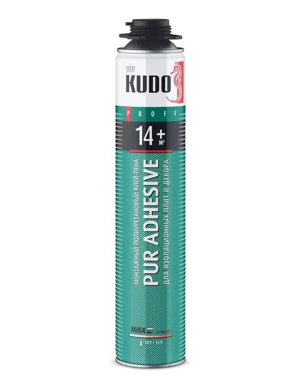Специальный клей Клей-пена полиуретановый профессиональный всесезонный PROFF 14+, 900гр KUDO Крепика дом крепежных материалов