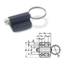 Поворотно-откидная фурнитура 6 фиксатор с кольцом 24